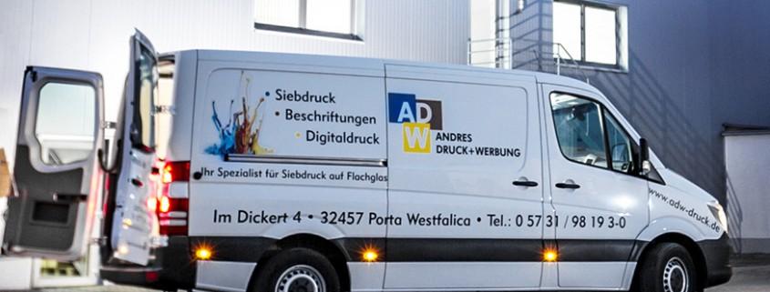 Andres Druck Werbung Fahrzeugbeschriftung